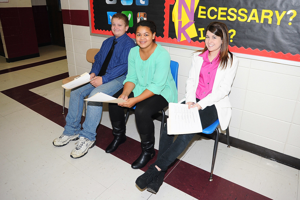 Jr. High Career Development Class Participate in Mock Interviews