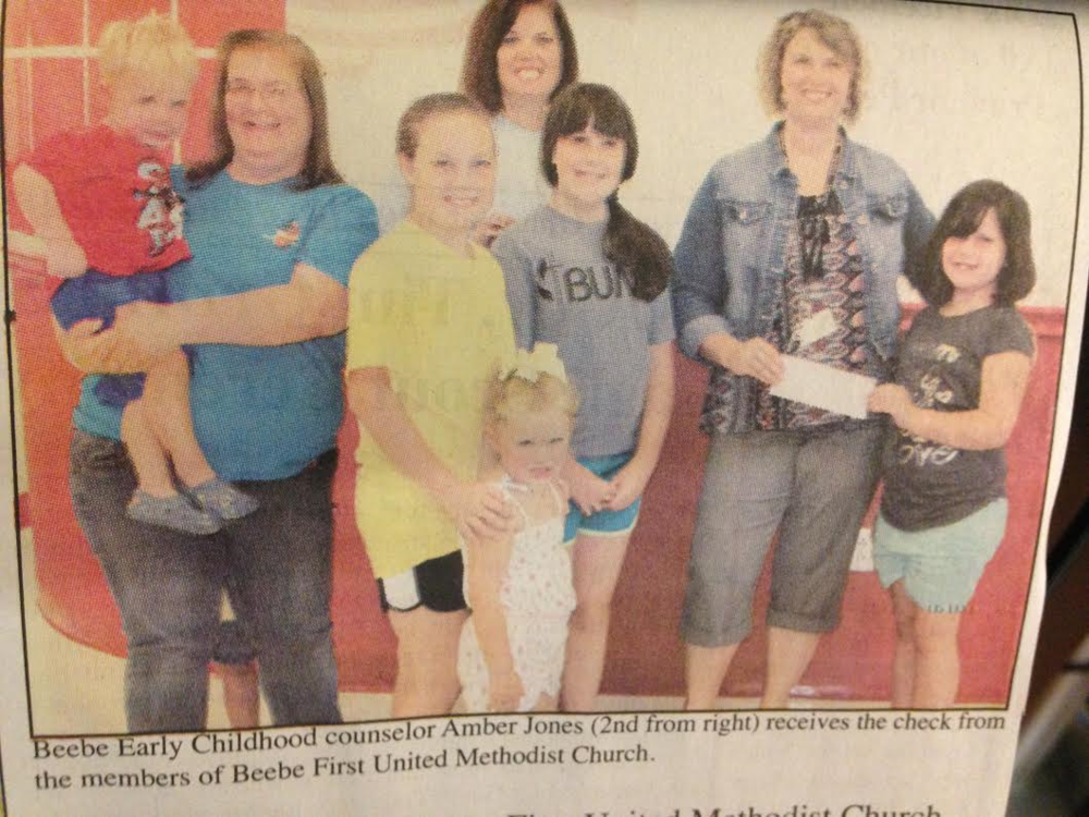 Beebe First United Methodist VBS Members Donate to BEC