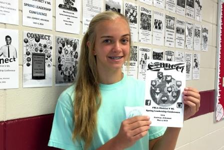 Macy Gillette Wins FBLA Cover Design Contest
